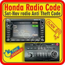 Honda CODE 2006 MK8 2012 2010 CD 2011 2008 2009 Jazz RADIO Civic Player Sat-Nav