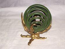 Vintage bronze brass letter holder claw talon spiral globe unique