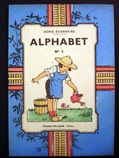 Vintage Imagerie Pellerin  Childrens book Alphabet No 1 Serie Ecossaise Inv1516