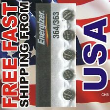 5 NEW ENERGIZER 364 363 SR621W SR621SW watch battery