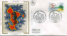 FRANCE FDC - 2735 1 MAYOTTE HIPPOCAMPE - 20 decembre 1991 - LUXE soie