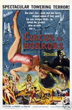 Circus of horror vintage Movie poster print