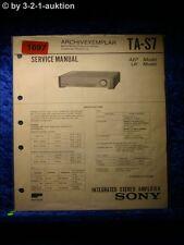 Sony Service Manual TA S7 Amplifier  (#1697)
