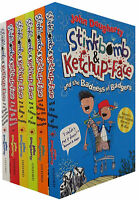 Stinkbomb and Ketchup Face Series 6 Books Collection Pack Set By John Dougherty