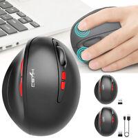 2.4GHz 2400DPI Gaming-Maus USB Kabellos Mouse Wiederaufladbar Funkmaus 7 Tasten