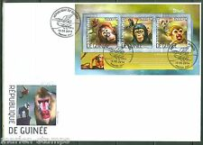 GUINEA 2014 MONKEYS SHEET FIRST DAY COVER