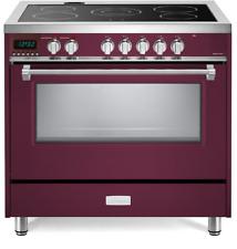 "Verona Designer Vdfsee365Bu 36"" Electric Range Oven Convection Burgundy"