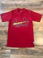 MLB St Louis Cardinals Baseball Dri Fit Shirt Mens Size Small Majestic Cool Base