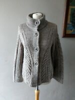 MARKS & SPENCER WOMENS LADIES STUNNING WOOL BLEND CARDIGAN TOP SIZE 14