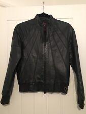 Vintage Leather Bomber Jacket, Skull, Grafiti, RRP£250, Topshop