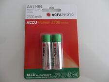 AA  2x Accu Powe  AGFA PHOTO  BATTERY HR6  NiMh-Accu 2300mAh