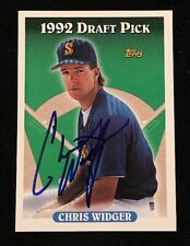 CHRIS WIDGER 1993 TOPPS DRAFT PICK AUTOGRAPHED SIGNED AUTO BASEBALL CARD 632 MAR