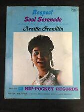 Aretha Franklin RESPECT Soul Seranade Hip-Pocket Record Philco Unopened