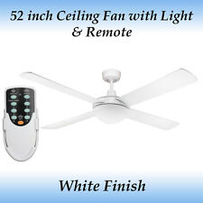 Genesis 52 inch White Ceiling Fan with Light and Remote