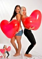 Riesen- HERZ- Luftballon 60cm Ø ! ROT ! -- Riesen- Ballon ROT + Hochzeit + Deko