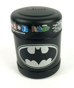 Batman Black Thermos Funtainer Stainless Steel Insulated Food Jar 10 oz
