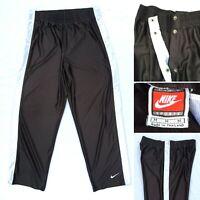 Vintage NIKE TearAway Snap Mens Size Medium Basketball Track Pants Warm Up Shiny