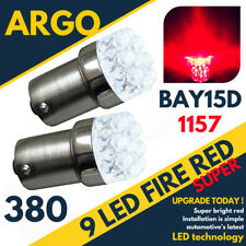 2 x RED 9 LED 380 1157 BAY15D P21/5W 12V STOP BRAKE TAIL LIGHT BULBS BRIGHT HID