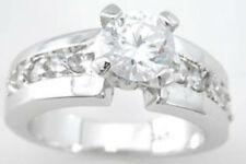 1.5 ct Designer Vintage Bridal 925 Sterling Silver Platinum Finish Size 9