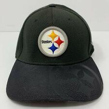 Pittsburgh Steelers Hat NFL Black New Era 39Thirty Logo Flex Size L - XL EUC