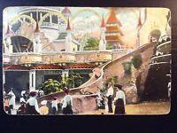 Vintage Postcard>1910<Helter Skelter Slide Park>Luna Park>Coney Island>New York