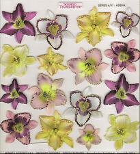 Sospeso Trasparente 3D Decoupage Adena Flower Printed Film