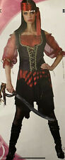 Wicked Costumes Swashbuckler Womens Pirate Fancy Dress Outfit, L UK 18-20  New