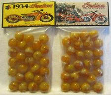 2 Bags Of 1934 Indian Motorcycle Model 101 Promo Marbles