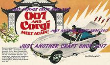 Corgi Toys 336 James Bond Toyota 1967 Poster Advert Leaflet Shop Display Sign