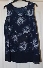 Next Navy Tunic Floral Print Size 14