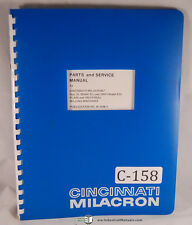 Cincinnati Milacron ED 2L & 2MH, Milling Machine, Parts and Service Manual