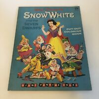 Walt Disney Snow White And Seven Dwarfs Cut-Out Coloring Book Giant Funtime 1957