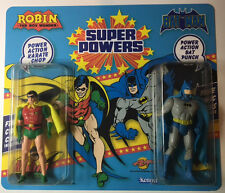 Super Powers Double Carded Custom Mint Batman & robin MOC & comic card Limited