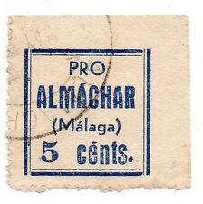 Sello Local Guerra Civil Almachar -Cat. Galvez 42.  ORD:26