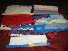 Lot of Vintage LACE TRIMMINGS Sewing Trim LACE RUFFLES TRIM CRAFTS DOLLS CLOTHS