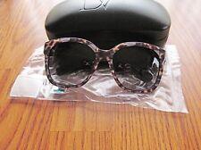 Diane Von Furstenberg DVF602S Julianna Sunglasses Animal Black  NWT in Box