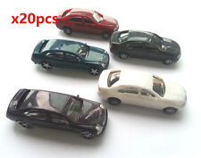 20 x  Model Cars Vehicles 1:100 HO TT Scale Railway Layout Architecture Toy