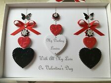 Handmade Personalised Boxed Birthday Anniversary Card Husband Wife Mum Dad Ruby