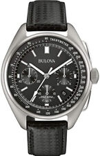 Bulova Men's Special Edition Lunar Pilot Stainless Steel/Leather Watch 96B251