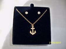NEW Anchor Necklace & Earrings Set