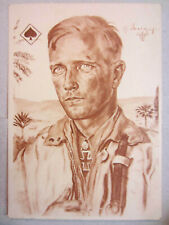 Afrika Korps Pilot Luftwaffe postcard German pilot iron cross Willrich ww2