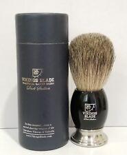 Vikings Blade Shaving Brush, High-Grade Obsidian Acrylic, Badger Swedish Alloy