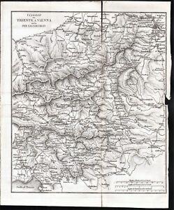 Austria-Viaggio da Trieste a Vienna anche per Salisburgo-Vallardi-1832
