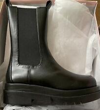 MN8 chunky chelsea calf high boot. New. Size 6 Black