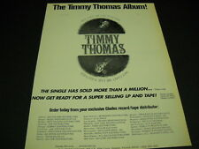 TIMMY THOMAS asks WHY CAN'T WE LIVE TOGETHER original 1973 music biz PROMO AD