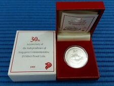 1995 Singapore 30 Years of Independence NDP $5 Commemorative Silver Proof Coin
