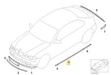 51137002522 Listello battuta destro, DARK SILVER -ORIGINALE- BMW 3 E46 Compact