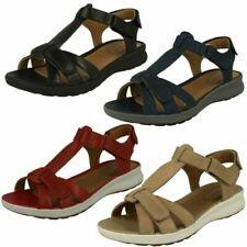 Ladies Clarks Unstructured Strappy Sandals 'Un Adorn Vibe'