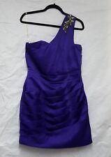 Womens Lipsy Dress Womens Purple Dress Size 12 Ruched Dress Satin Dress