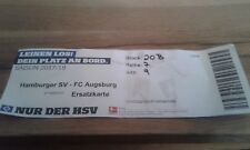 Ticket HSV - FC Augsburg , Sammelkarte, Hamburger SV, Ultras, EM, FCA, WM